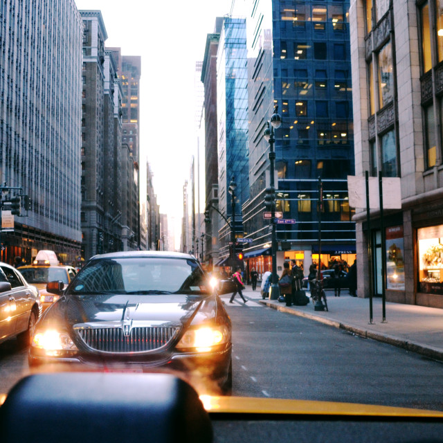 """Traffic Jam - New York"" stock image"