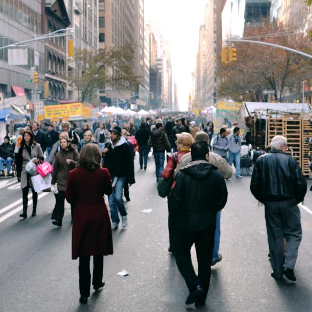 """""""Street Markets - NY"""" stock image"""