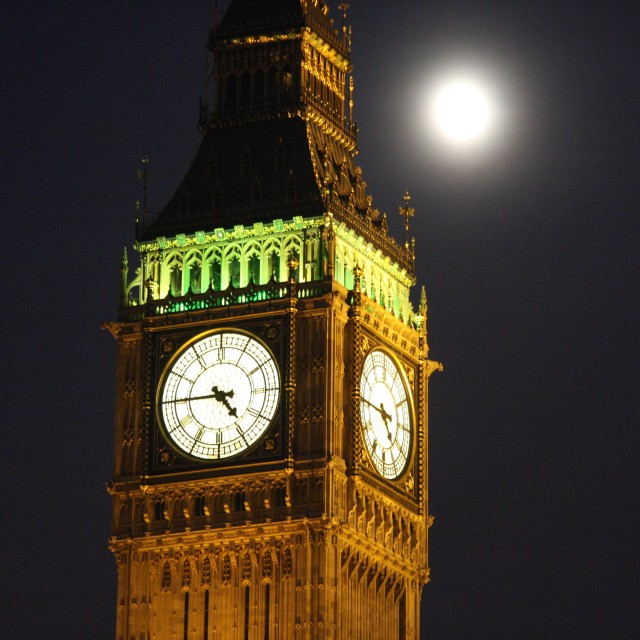 """Big Ben and the Moon"" stock image"