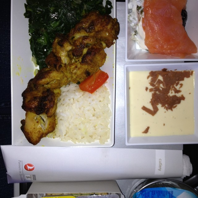 """Turkish Airlines meal"" stock image"