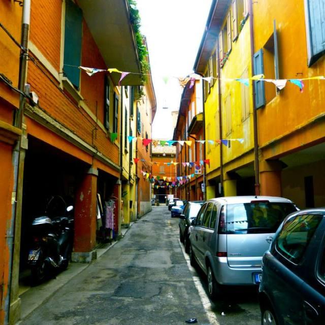 """Back road Bologna"" stock image"