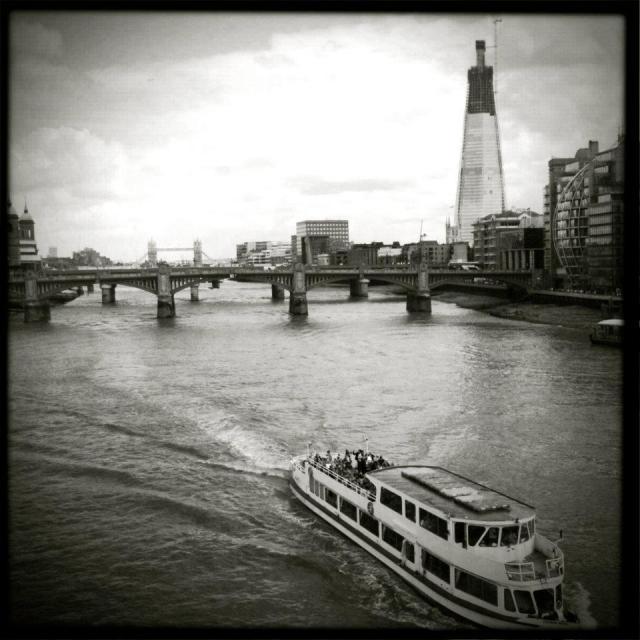 """Bridges & barges"" stock image"