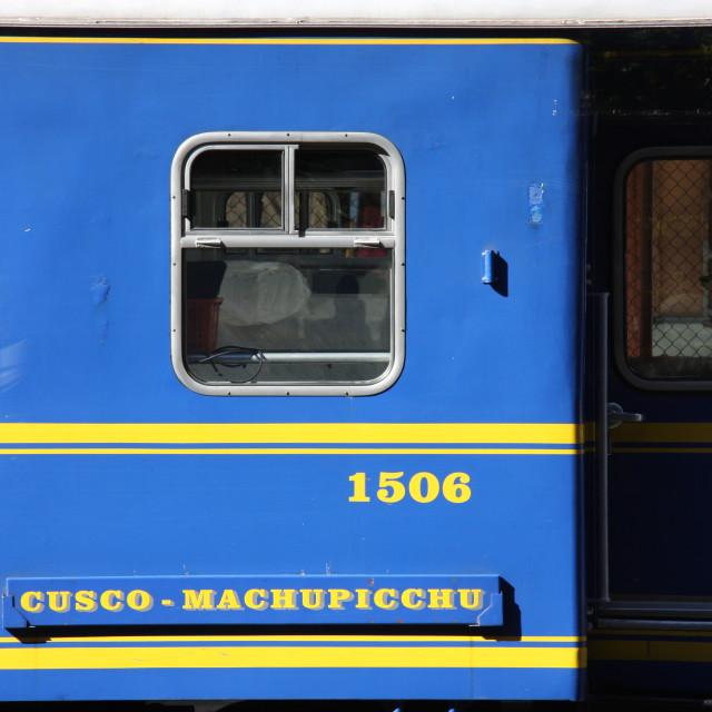 """The Train to Machu Picchu"" stock image"