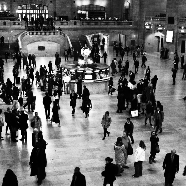 """Grand Central - Grainy B&W"" stock image"