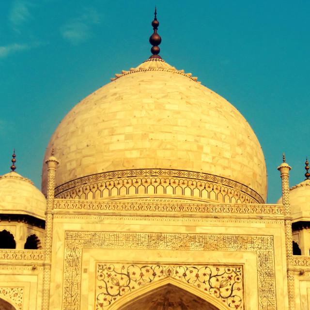 """Taj Mahal Dome"" stock image"