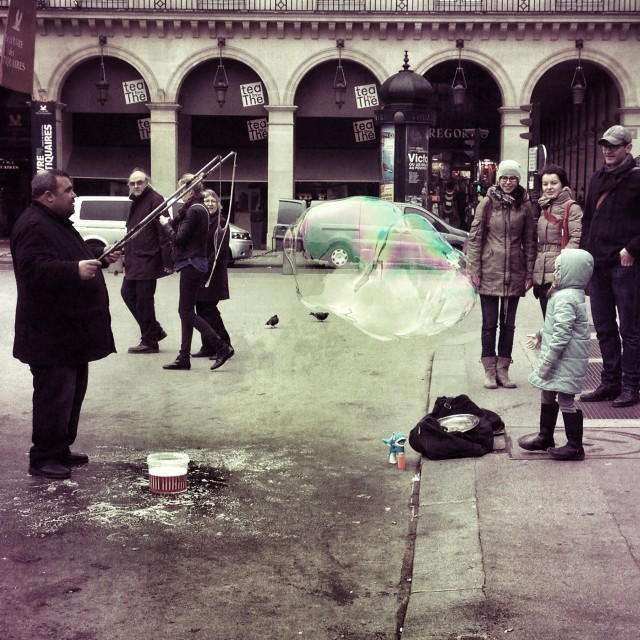 """Bubbles in Paris"" stock image"