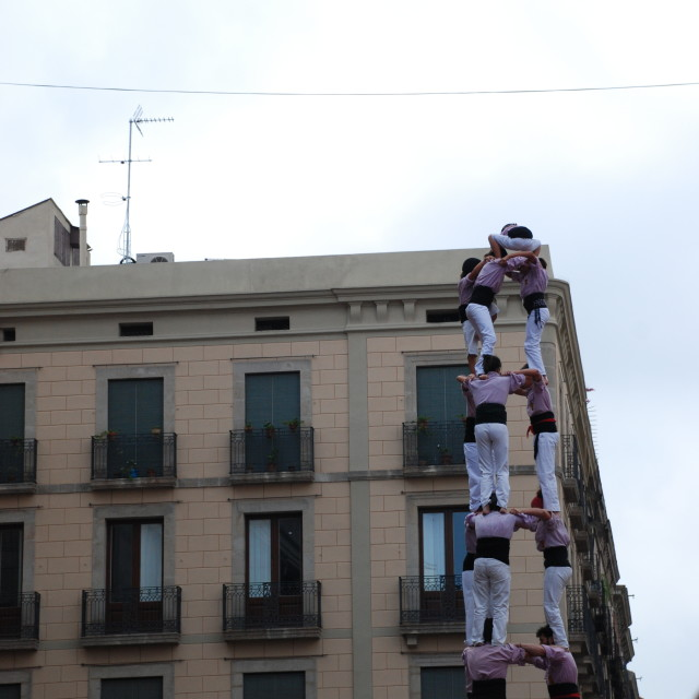 """Castells in the sky"" stock image"