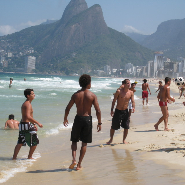"""On The Beach In Rio"" stock image"