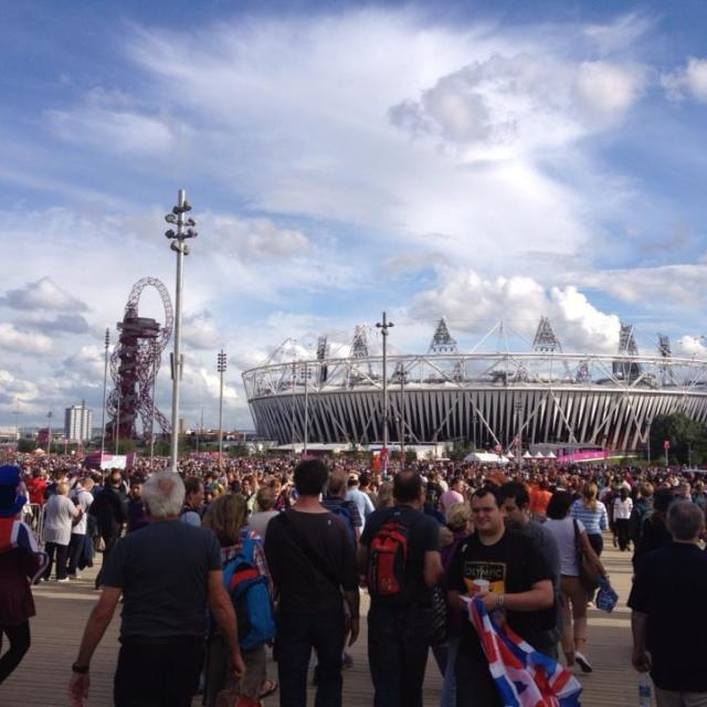 """Olympic Stadium London 2012"" stock image"