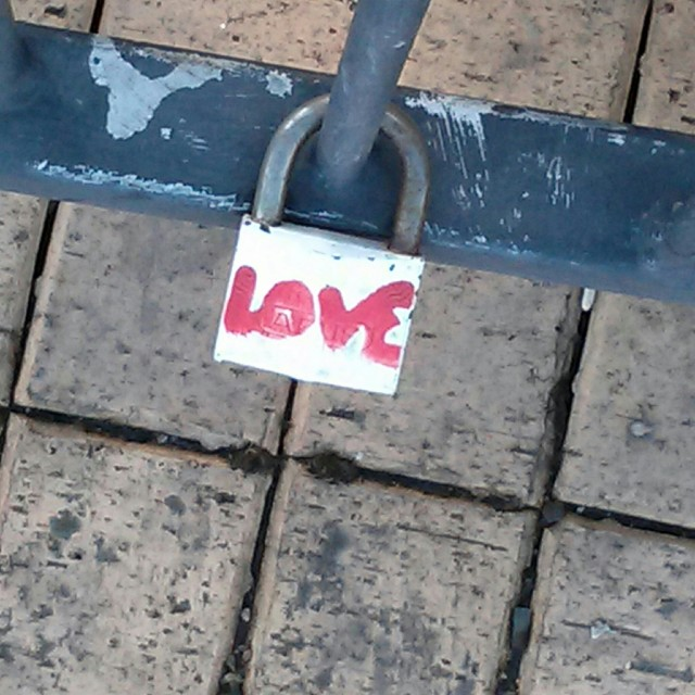 """Love locked."" stock image"