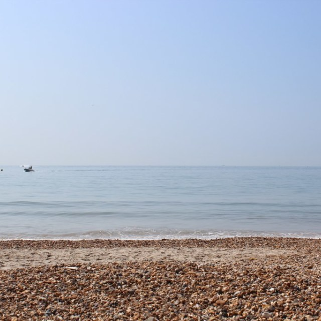 """Highcliffe Beach"" stock image"