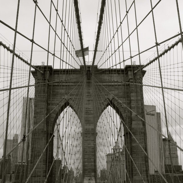"""Brooklyn Bridge, NYC"" stock image"