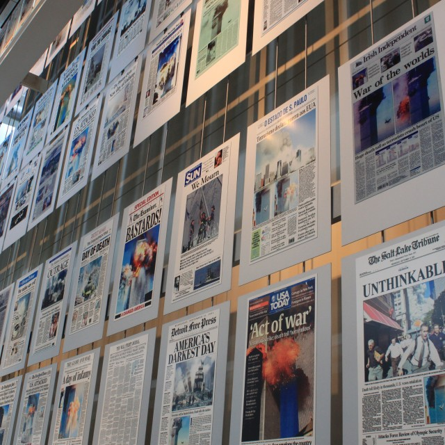 """9/11 Front Pages"" stock image"