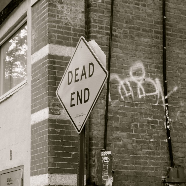 """Dead End"" stock image"