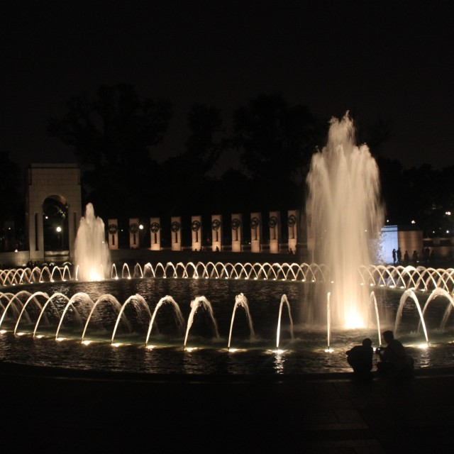 """World War II memorial, Washington DC"" stock image"