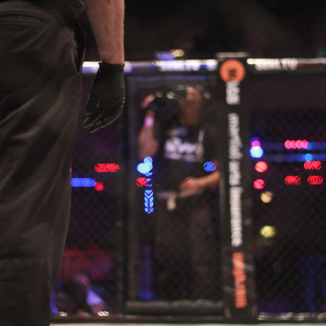 """MMA - Closed Cage"" stock image"