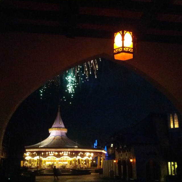 """Carousel & Fireworks"" stock image"