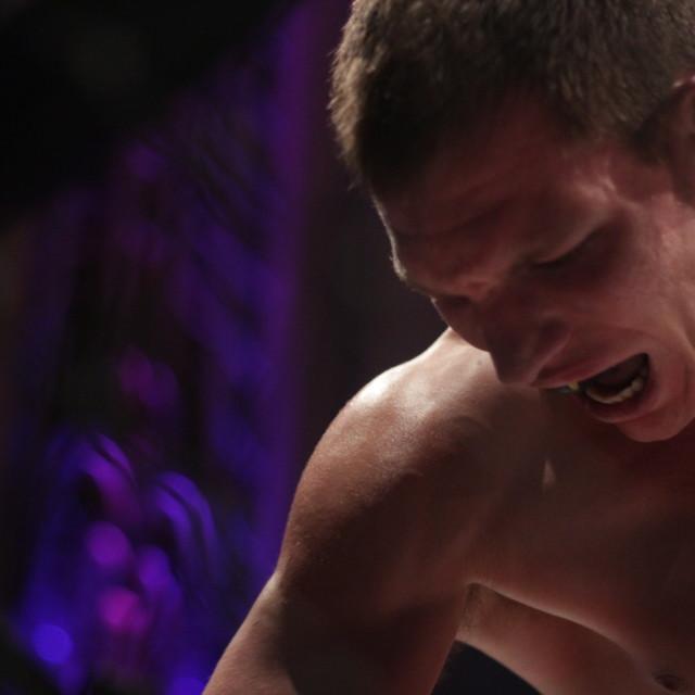 """""""MMA - Luke Barnatt Celebrates"""" stock image"""
