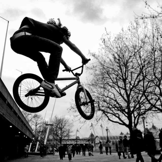 """BMX flight"" stock image"