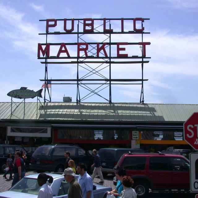 """""""Pike Place Public Market Seattle, WA"""" stock image"""