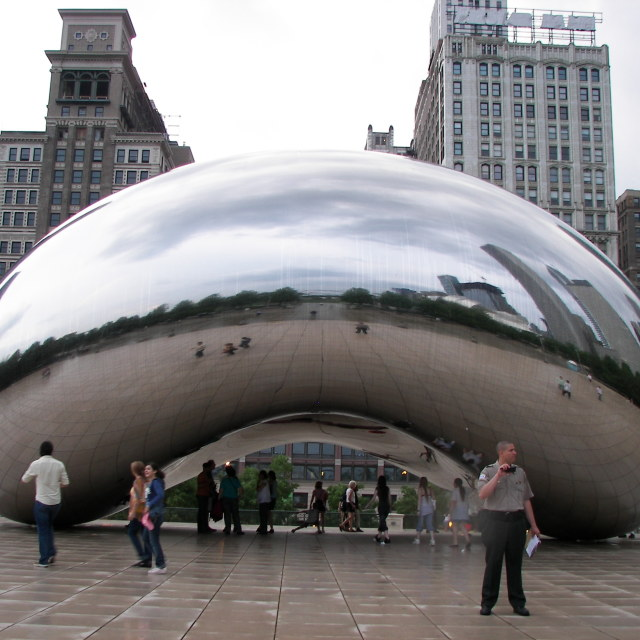 """""""The Bean, Chicago"""" stock image"""