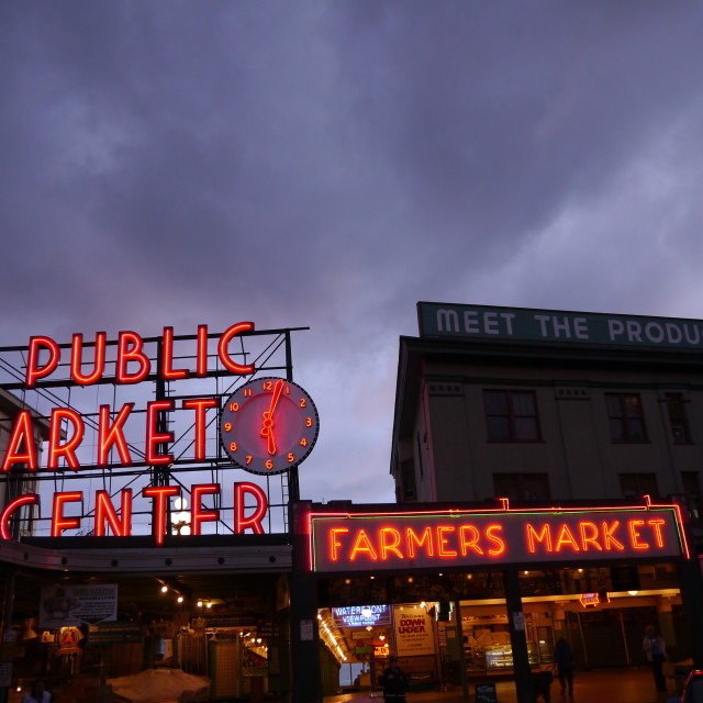 """Pike Place Fish Market"" stock image"