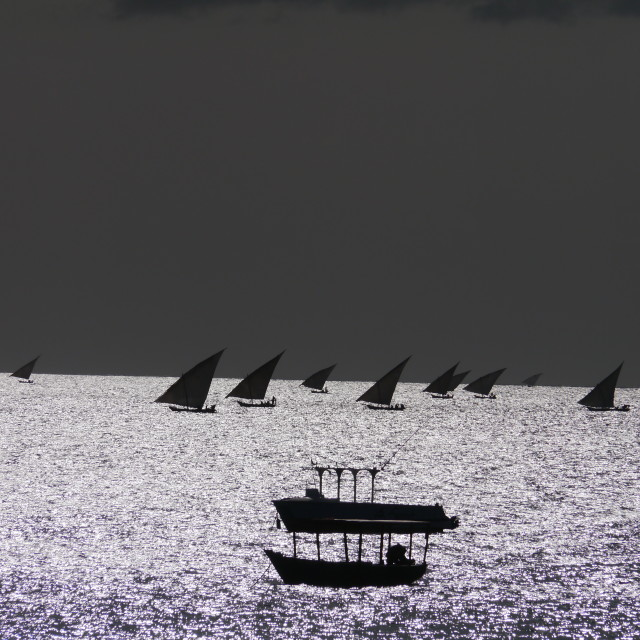 """Dhows of East Africa"" stock image"