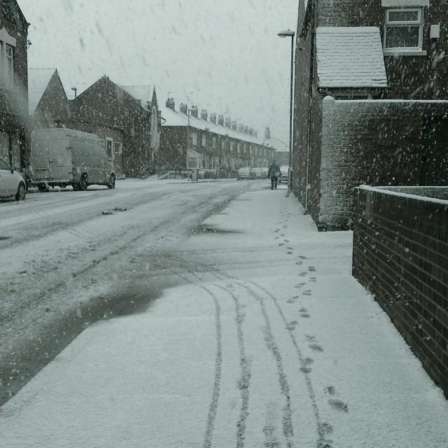 """Snowy Street"" stock image"