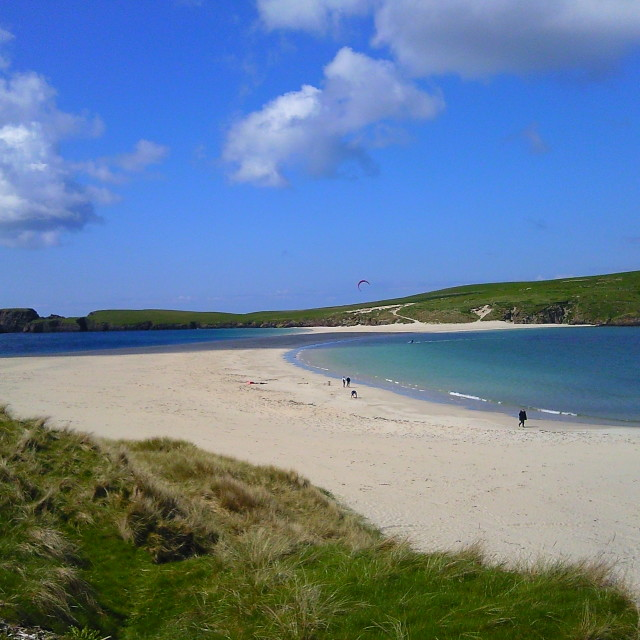 """St Ninians. Beach in the Shetland Islands"" stock image"