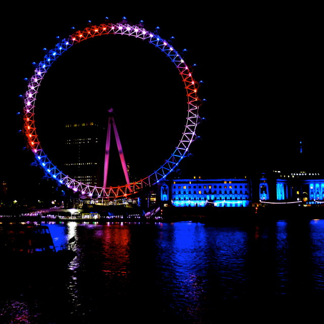 """""""London Eye - Union Jack Colours"""" stock image"""