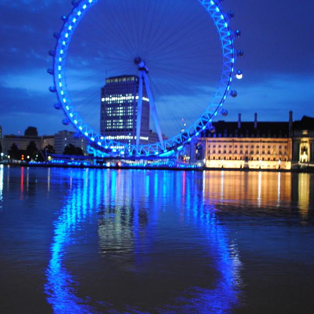 """London Eye, Blue"" stock image"