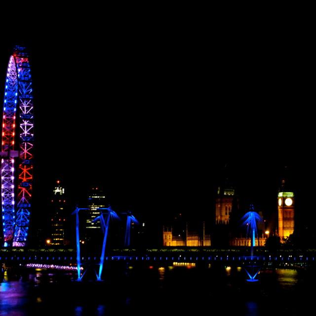 """The View from Waterloo Bridge"" stock image"