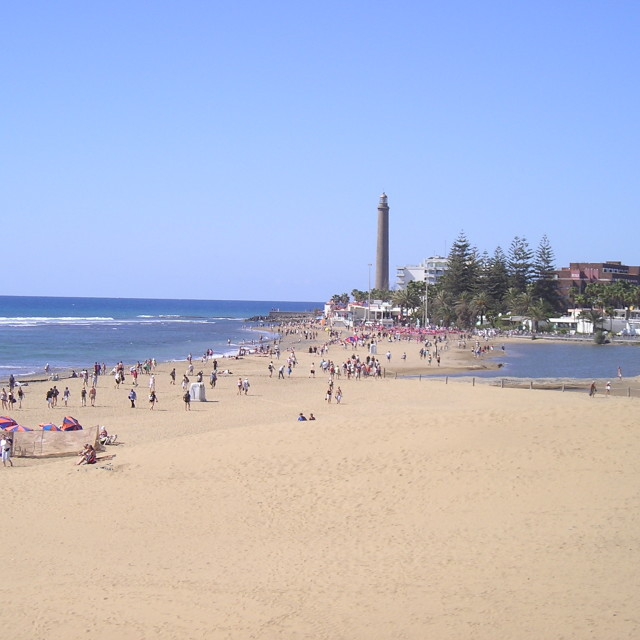 """Maspalomas Beach in Gran Canaria, Spain"" stock image"