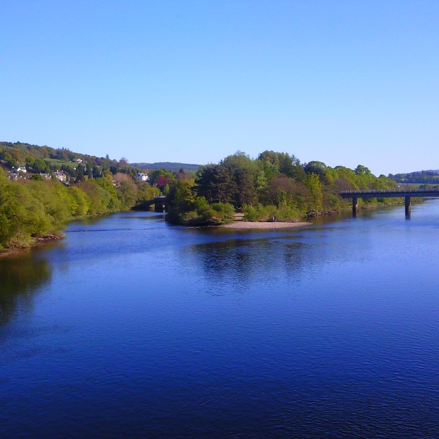 """River Tay in Perth, Scotland"" stock image"