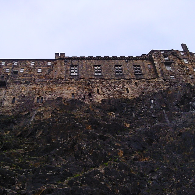 """Edinburgh Castle Rock Face"" stock image"