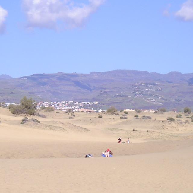 """Maspalomas Dunes in Gran Canaria, Spain"" stock image"