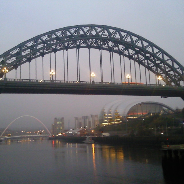"""Tyne Bridge in Newcastle upon Tyne"" stock image"