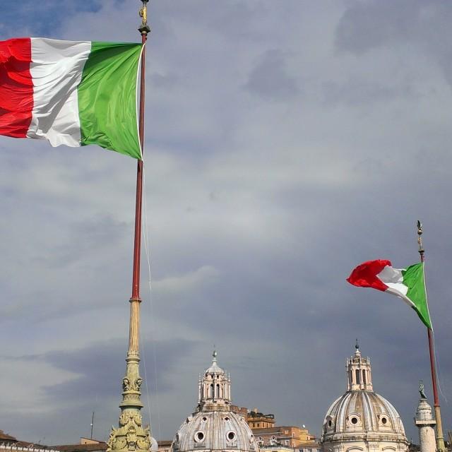 """""""il Tricolore"""" stock image"""