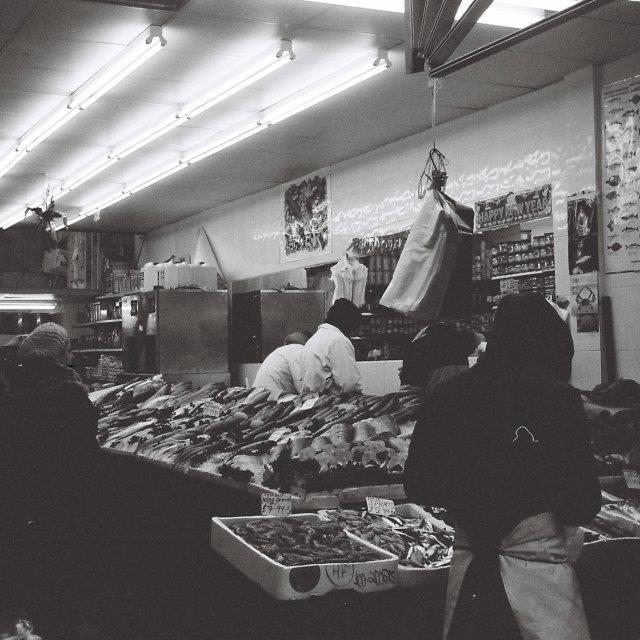 """Brixton Fishmoner"" stock image"