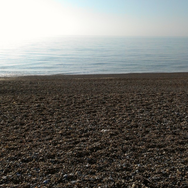 """Bexhill Beach"" stock image"