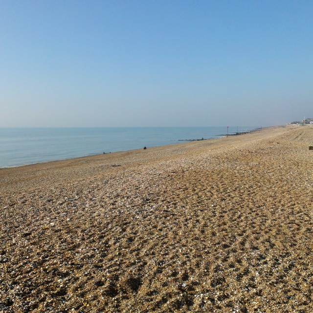 """Bexhill Beach 2"" stock image"