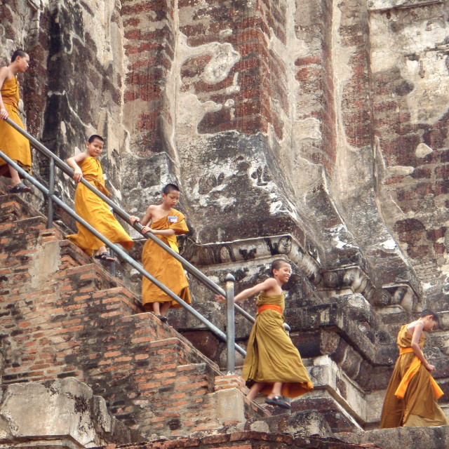 """Thai monks"" stock image"