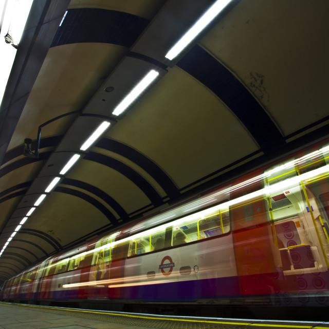 """Tube Train Mornington Crescent"" stock image"