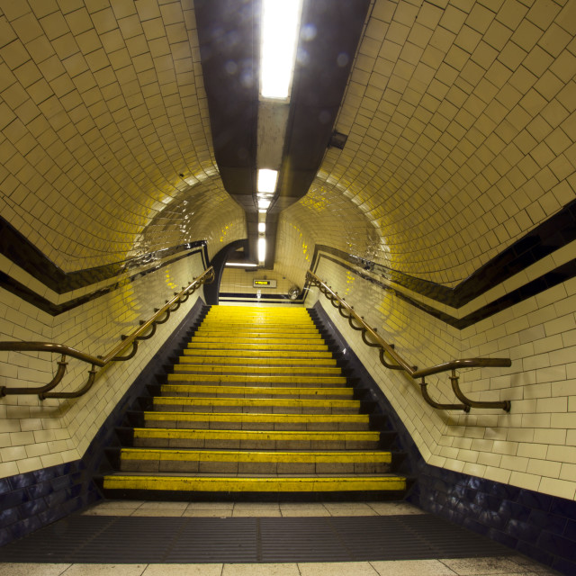 """London Underground Way Out"" stock image"