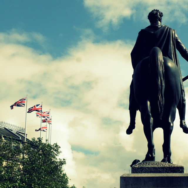 """Statue of George IV"" stock image"