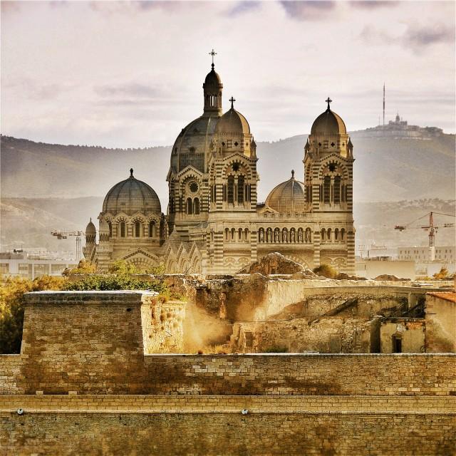 """""""Cathédrale La Major, Marseille, France"""" stock image"""