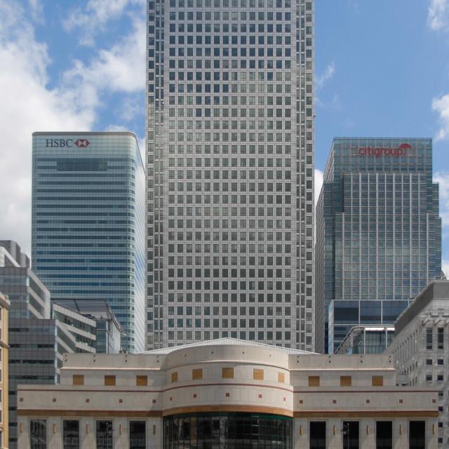 """Canary Wharf Estate"" stock image"