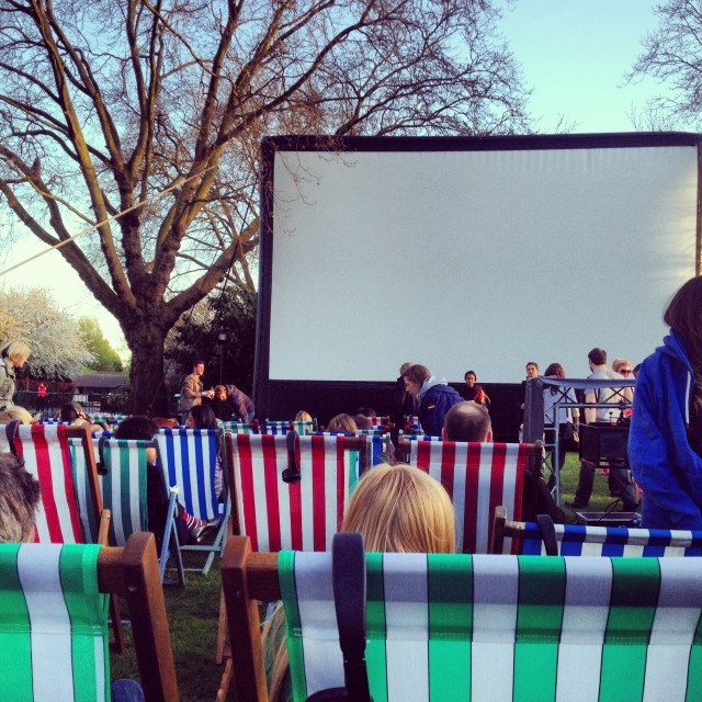 """Outdoor Cinema"" stock image"