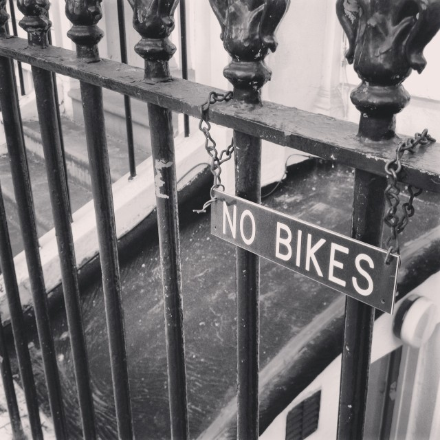 """No Bikes"" stock image"