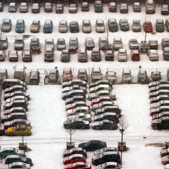 """""""Cars in the Snow"""" stock image"""